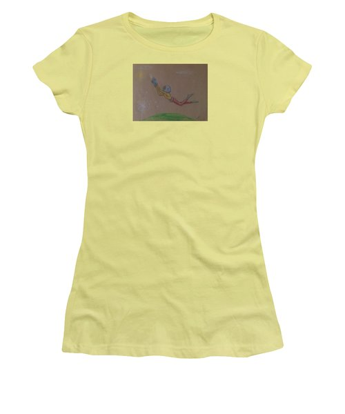 Alien Chasing His Dreams Women's T-Shirt (Junior Cut)