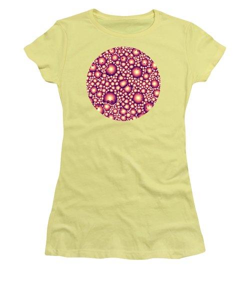 Alien Molecular Structure  Women's T-Shirt (Junior Cut) by Phil Perkins