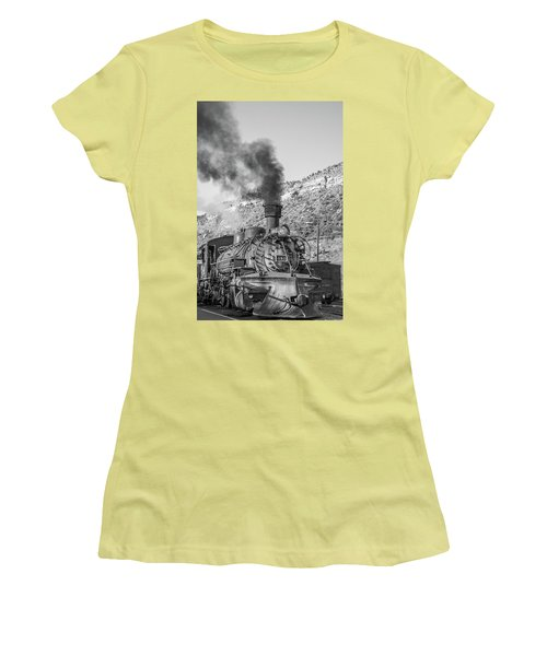 Women's T-Shirt (Athletic Fit) featuring the photograph All Aboard by Colleen Coccia