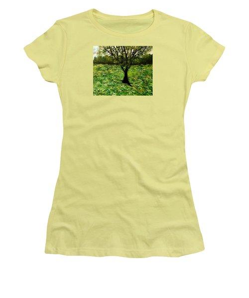 All Around The Turmoil Women's T-Shirt (Junior Cut) by Lisa Aerts