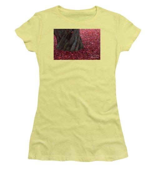 All Red Women's T-Shirt (Junior Cut) by Steven Macanka
