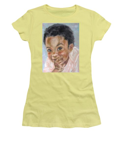 All Smiles Women's T-Shirt (Junior Cut) by Barbara O'Toole