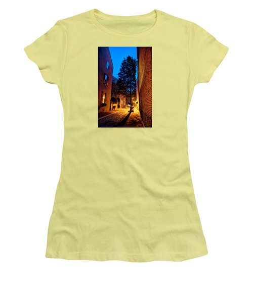 Women's T-Shirt (Junior Cut) featuring the photograph Alleyway by Mark Dodd