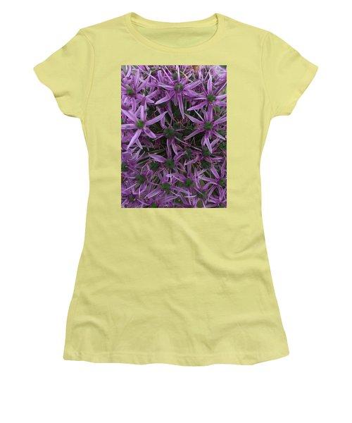 Allium Stars  Women's T-Shirt (Junior Cut) by Kathy Spall