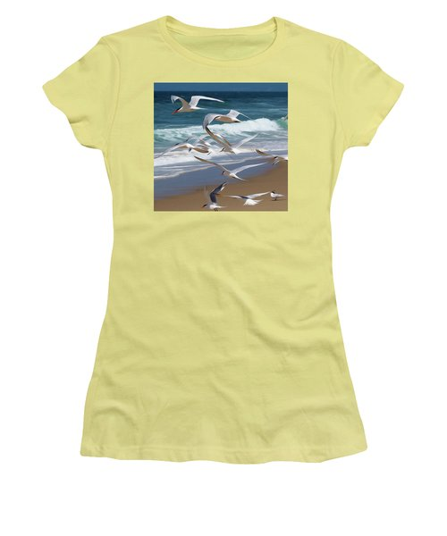 Aloft Again Women's T-Shirt (Junior Cut) by Joe Schofield