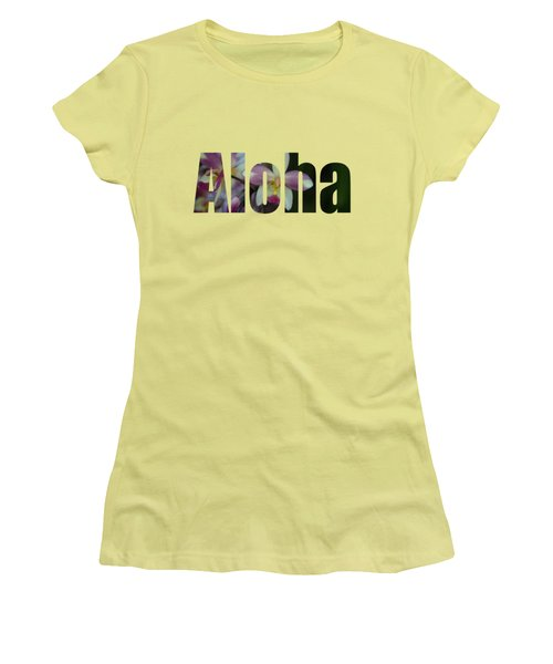 Women's T-Shirt (Junior Cut) featuring the photograph Aloha Orchids Type by Kerri Ligatich
