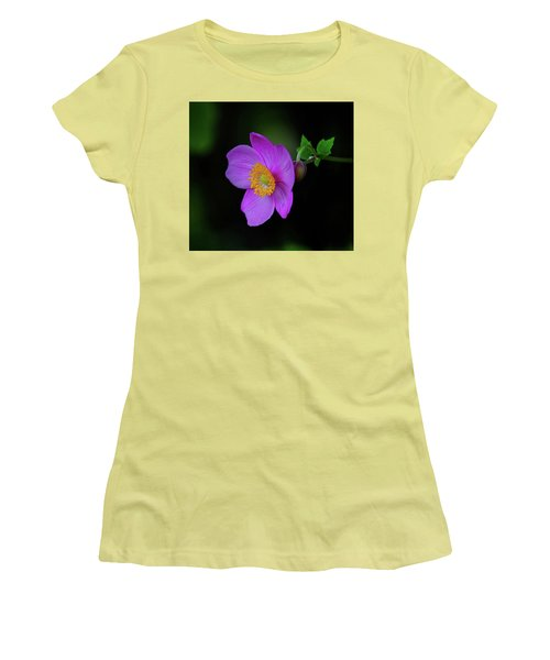 Anenome Purple Women's T-Shirt (Junior Cut) by Ronda Ryan