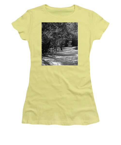 Women's T-Shirt (Junior Cut) featuring the photograph Along The Barr Trail by Christin Brodie