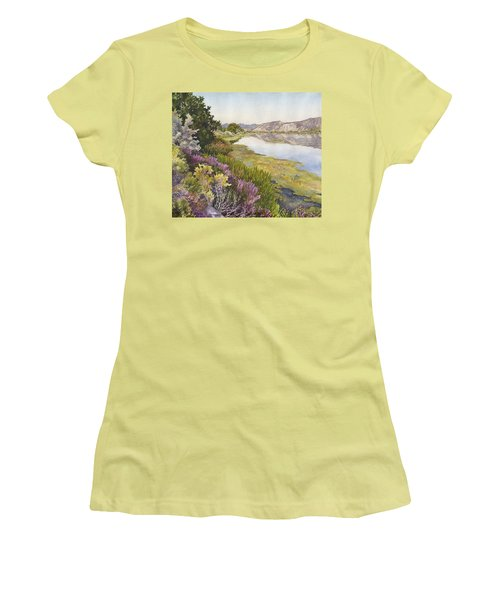 Women's T-Shirt (Junior Cut) featuring the painting Along The Oregon Trail by Anne Gifford
