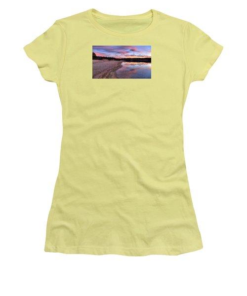 Along The Shoreline Women's T-Shirt (Junior Cut) by John Loreaux