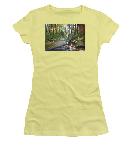 Along The Trail In Georgia Women's T-Shirt (Athletic Fit)