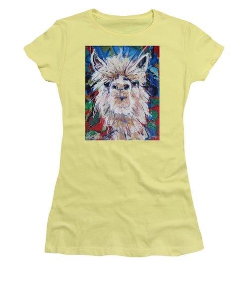 Alpaca Crazed Women's T-Shirt (Athletic Fit)