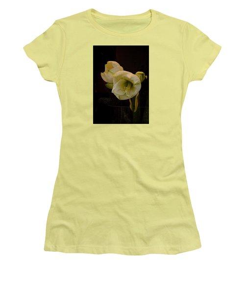 mont Blanc Amaryllis No. 1 Women's T-Shirt (Junior Cut) by Richard Cummings