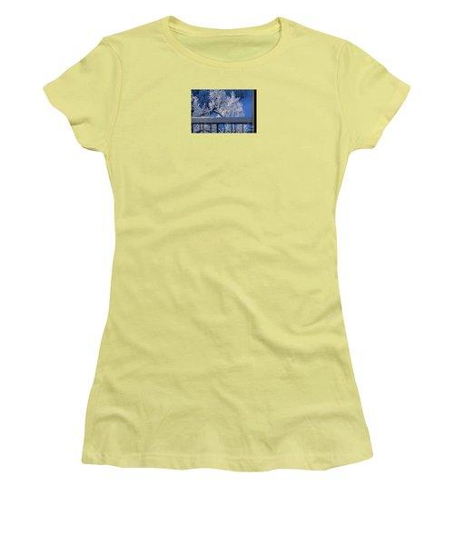 Women's T-Shirt (Junior Cut) featuring the photograph Amazing - Winterwonderland In Switzerland by Susanne Van Hulst