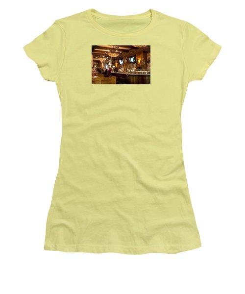 Women's T-Shirt (Junior Cut) featuring the photograph Amen Street by Allen Carroll