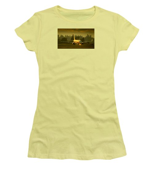 American Ready For Take-off Women's T-Shirt (Athletic Fit)