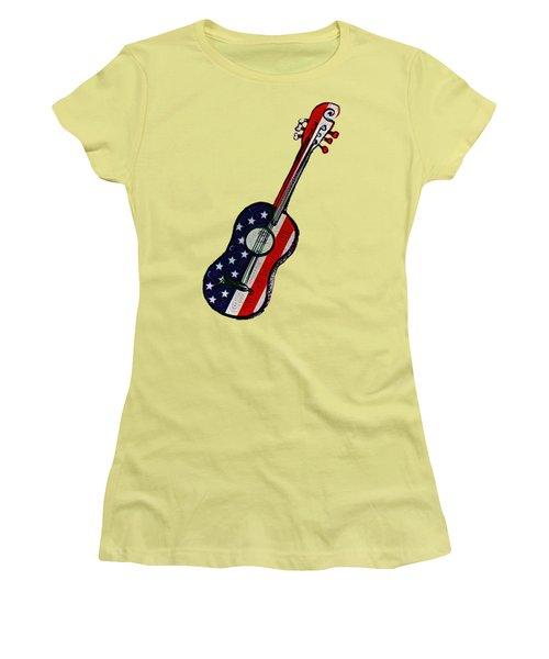 Women's T-Shirt (Junior Cut) featuring the photograph American Rock And Roll by Bill Cannon