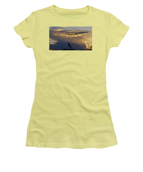 American Supercell Women's T-Shirt (Junior Cut) by Ed Sweeney