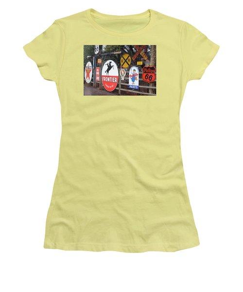 Americana Rt.66 Women's T-Shirt (Junior Cut) by Elvira Butler
