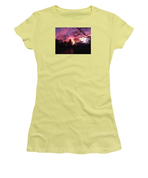 Amethyst Sunset Women's T-Shirt (Junior Cut)