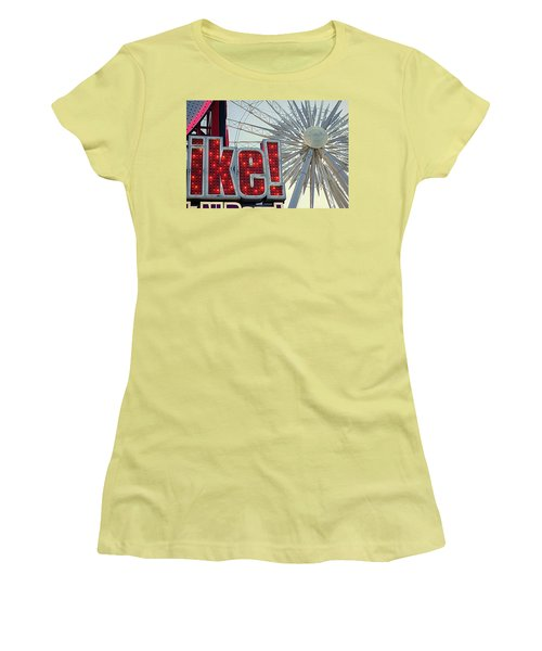 Women's T-Shirt (Junior Cut) featuring the photograph Amusement by Valentino Visentini