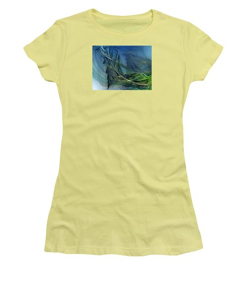 Women's T-Shirt (Junior Cut) featuring the digital art An Echo Of Speed by Karin Kuhlmann