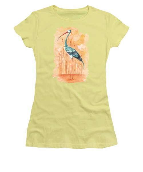 An Exotic Stork Women's T-Shirt (Junior Cut) by Timmy Timone