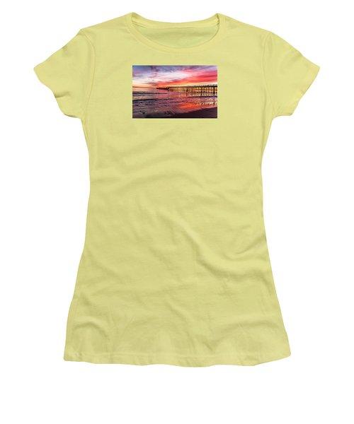 Seacliff Sunset Women's T-Shirt (Junior Cut) by Lora Lee Chapman