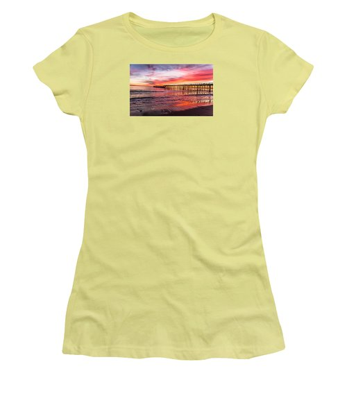 Seacliff Sunset Women's T-Shirt (Athletic Fit)