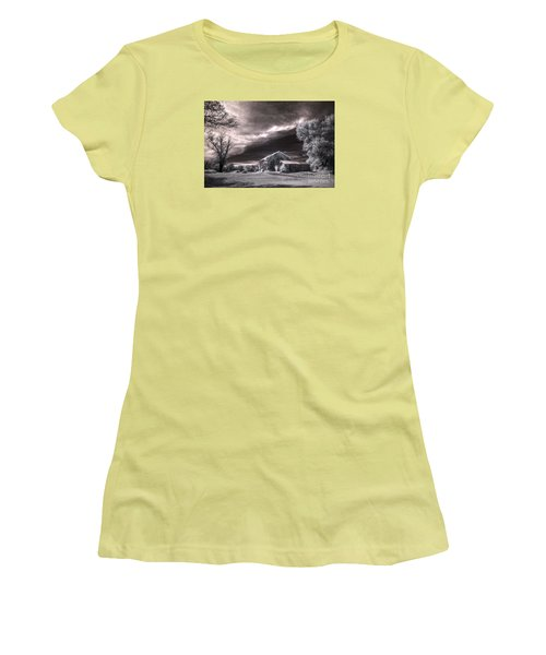 An Ivy Covered Rustic Women's T-Shirt (Junior Cut) by William Fields