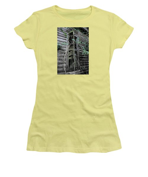 An Old Shuttered Window Women's T-Shirt (Junior Cut) by Lynn Jordan