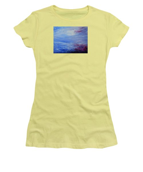 Women's T-Shirt (Junior Cut) featuring the painting An Unspoken Message by Jane See