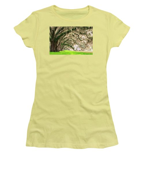 Ancient Southern Oaks Women's T-Shirt (Junior Cut) by Serge Skiba