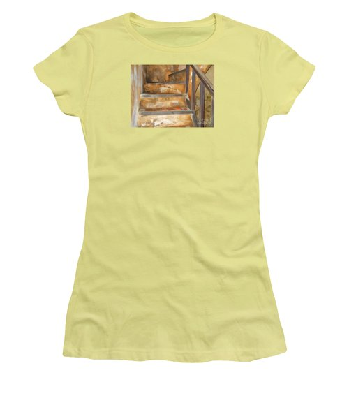 Ancient Stairway Women's T-Shirt (Athletic Fit)