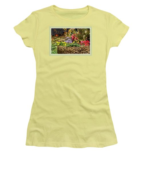 And So In This Moment With Sunlight Above II Women's T-Shirt (Junior Cut) by Jim Fitzpatrick