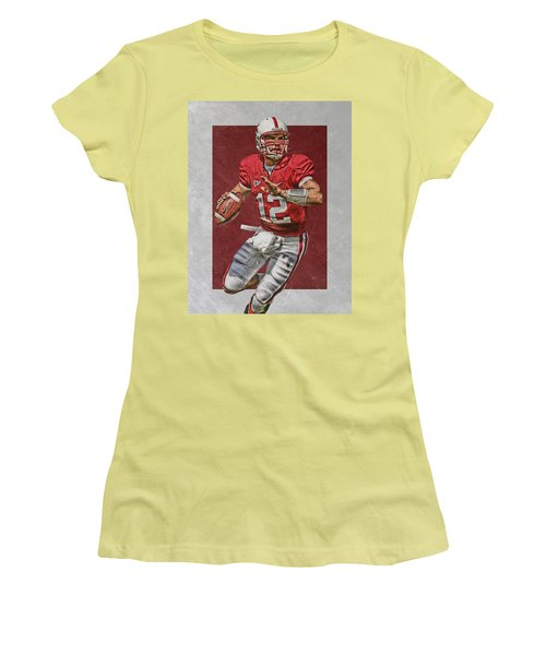 Andrew Luck Stanford Cardinals Art Women's T-Shirt (Athletic Fit)