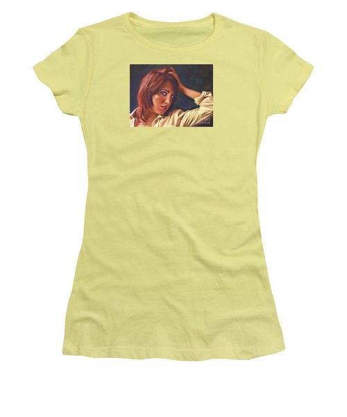 Angel  No. 14... Women's T-Shirt (Junior Cut) by Chuck Caramella