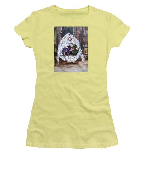 Flying Lamb Productions.        Angel And The Orphans Women's T-Shirt (Athletic Fit)