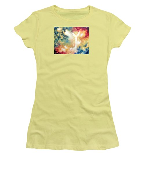 Angel Light Women's T-Shirt (Junior Cut) by Marina Petro
