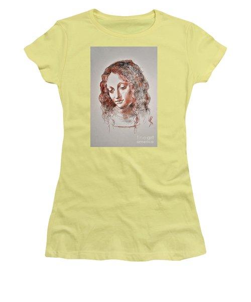 Angel Madonna Women's T-Shirt (Junior Cut) by Maja Sokolowska