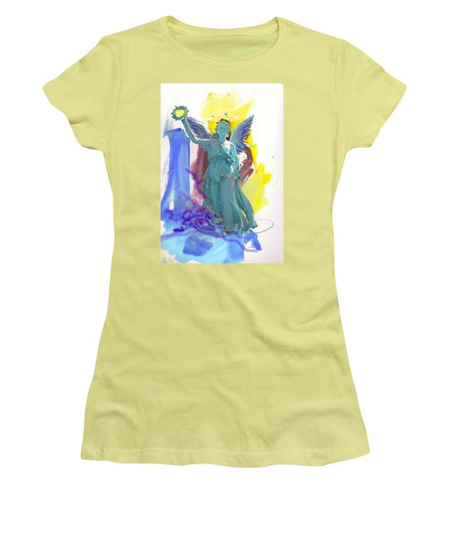 Angel, Victory Is Now Women's T-Shirt (Junior Cut) by Amara Dacer