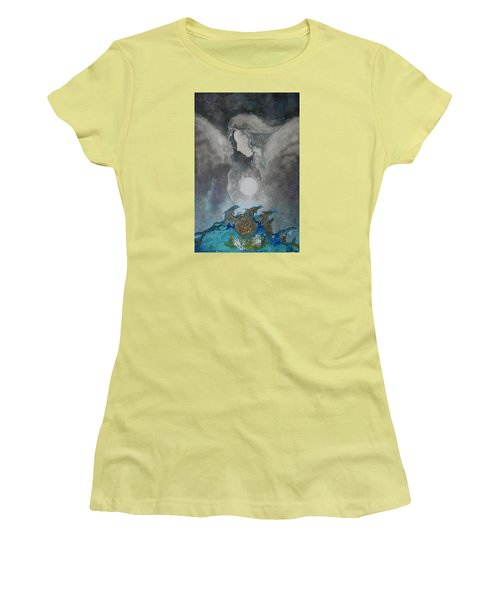 Angels And Dolphins Healing Sanctuary Women's T-Shirt (Athletic Fit)
