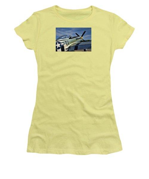 Angels Playmate P-51 Women's T-Shirt (Junior Cut) by Steven Richardson