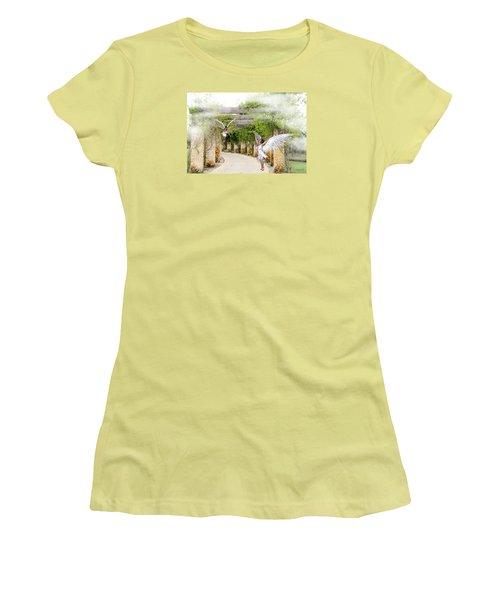 Angels Under The Arbor Women's T-Shirt (Junior Cut) by Rosalie Scanlon