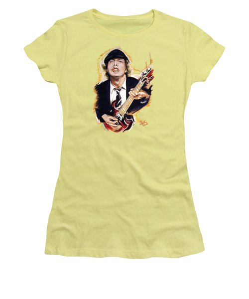 Angus Young Women's T-Shirt (Junior Cut) by Melanie D