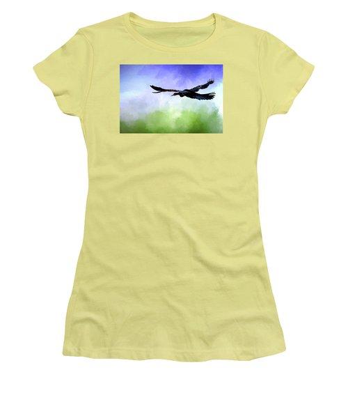 Anhinga In Flight Women's T-Shirt (Athletic Fit)