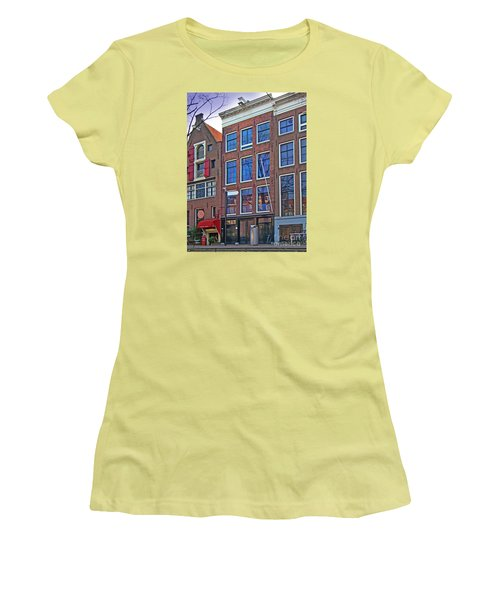 Anne Frank Home In Amsterdam Women's T-Shirt (Junior Cut) by Al Bourassa