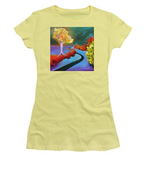 Golden Aura Women's T-Shirt (Athletic Fit)
