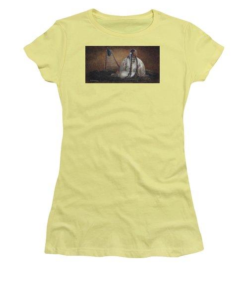 Anticipation Women's T-Shirt (Junior Cut) by Kim Lockman
