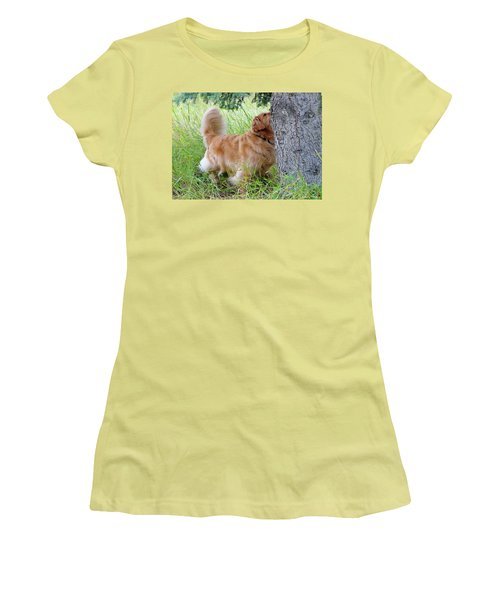 Women's T-Shirt (Junior Cut) featuring the photograph Anticipation by Rhonda McDougall